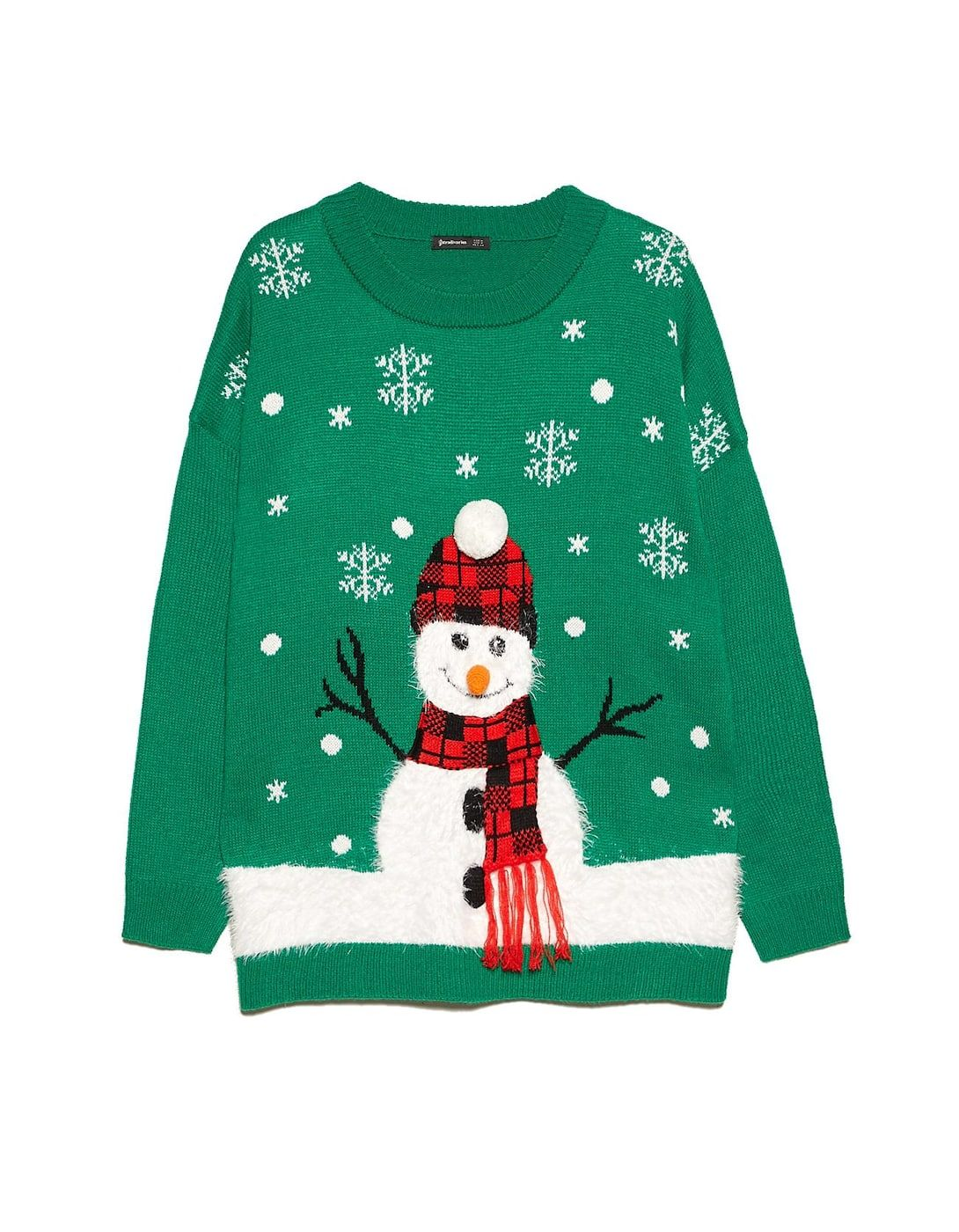 Unisex XMAS  Rudolph Nose Jumper With LED  3D Flashing Lights