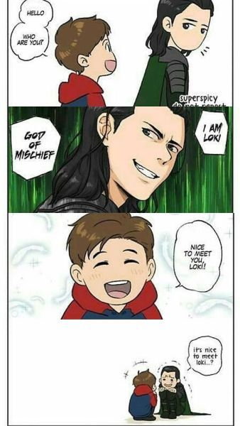Loki and Peter Parker | Tumblr
