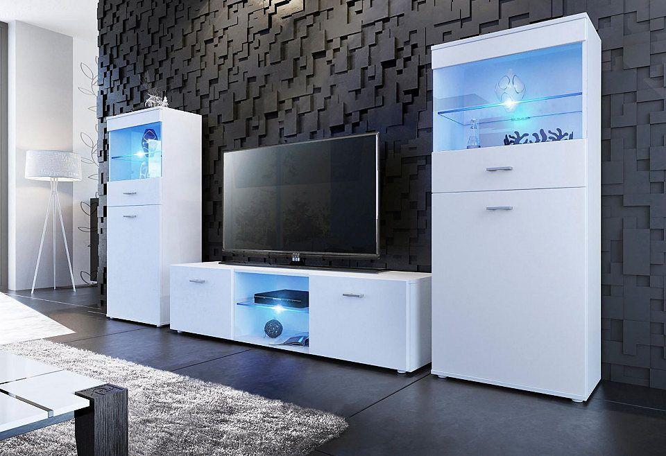 Borchardt Möbel TV-Wand, Made in Germany (3tlg) Wohnzimmer \u003e TV