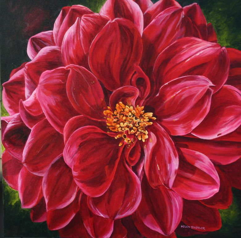 Painting Flowers in Acrylics - learn how to draw sketch paint