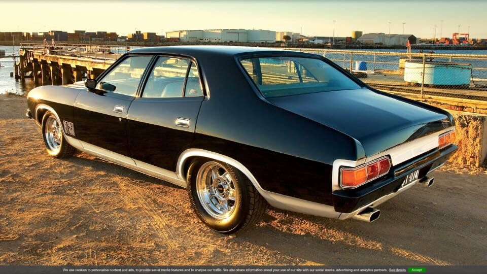 Onyx Black Xb Gt Falcon Aussie Muscle Cars Classic Cars Muscle Muscle Cars
