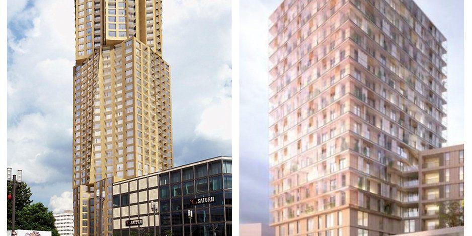 Alexanderplatz In Berlin Wird Der Wohnturm Aus Holz Gebaut Mit Bildern Wohnturm Turm