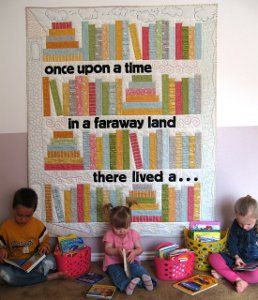 Storybooks Quilt | FaveQuilts.com - So cute!!!!