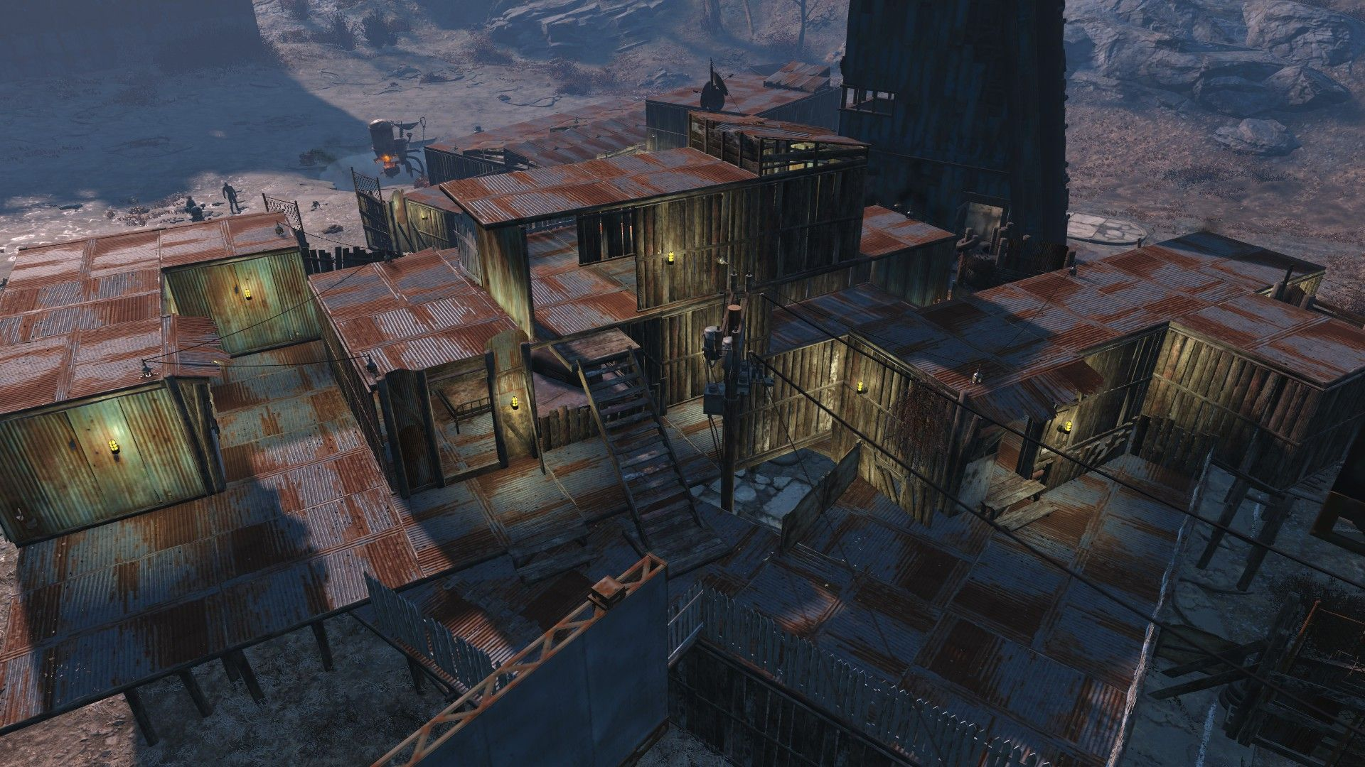 fallout 4 settlement at starlight drive in shanty chic