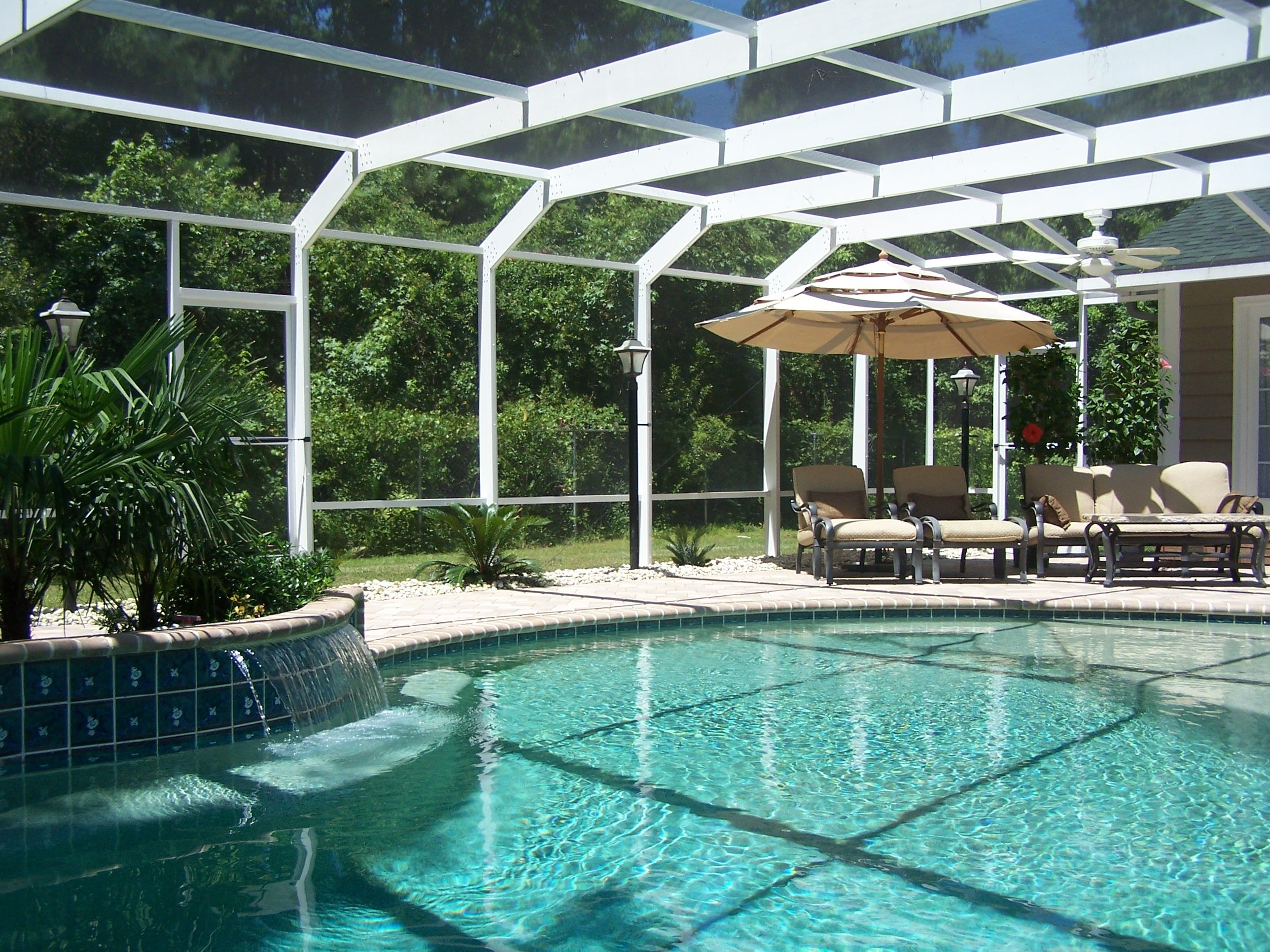 Pool patio enclosures will give you protection for your for Pool lanai cost