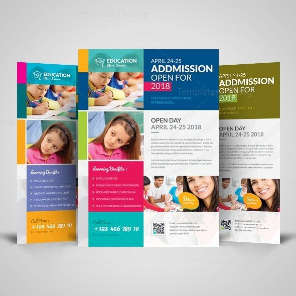 Professional School Flyer Design Template 001515 Graphic Template