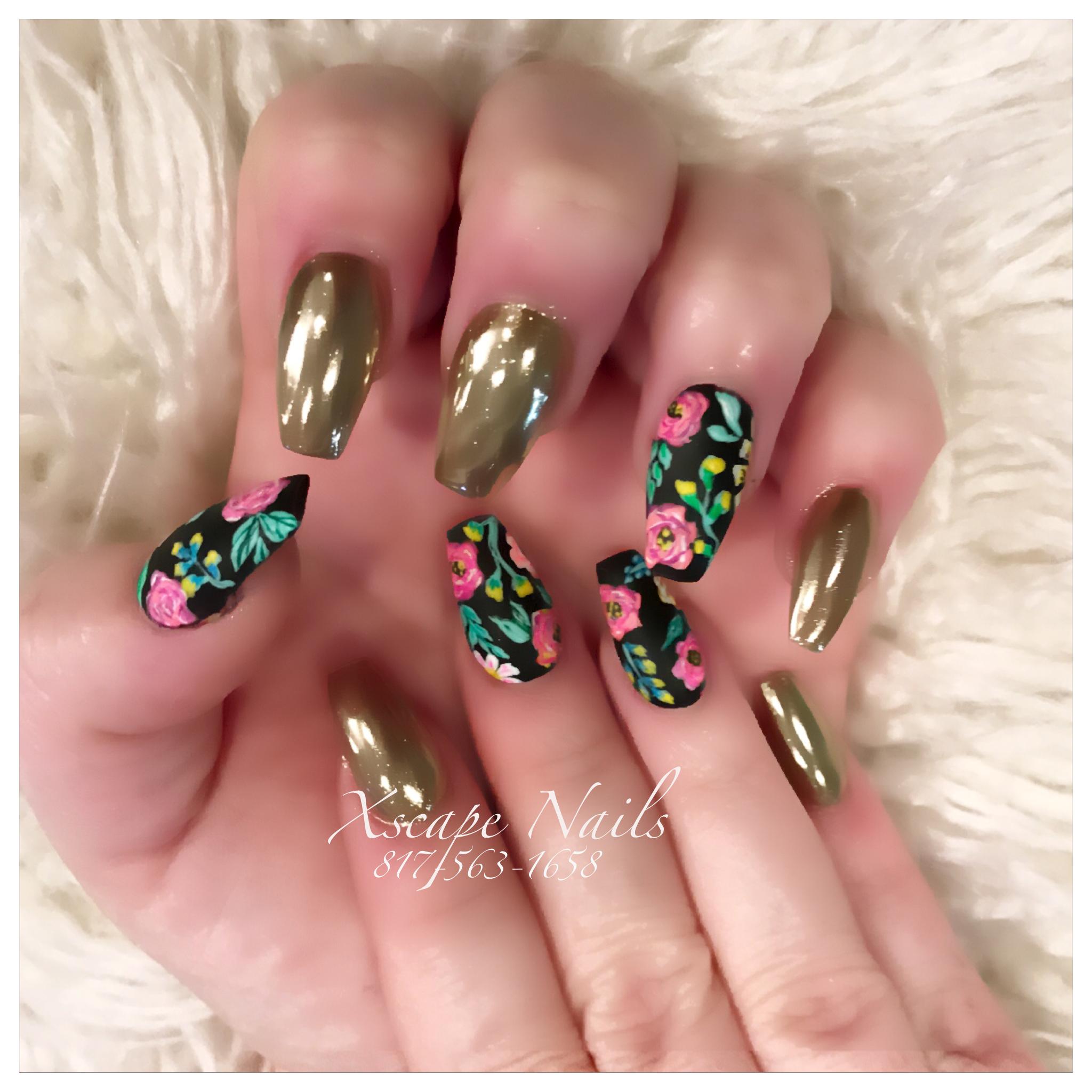 Blue glitter ombr 233 stiletto nails - Chrome Nails