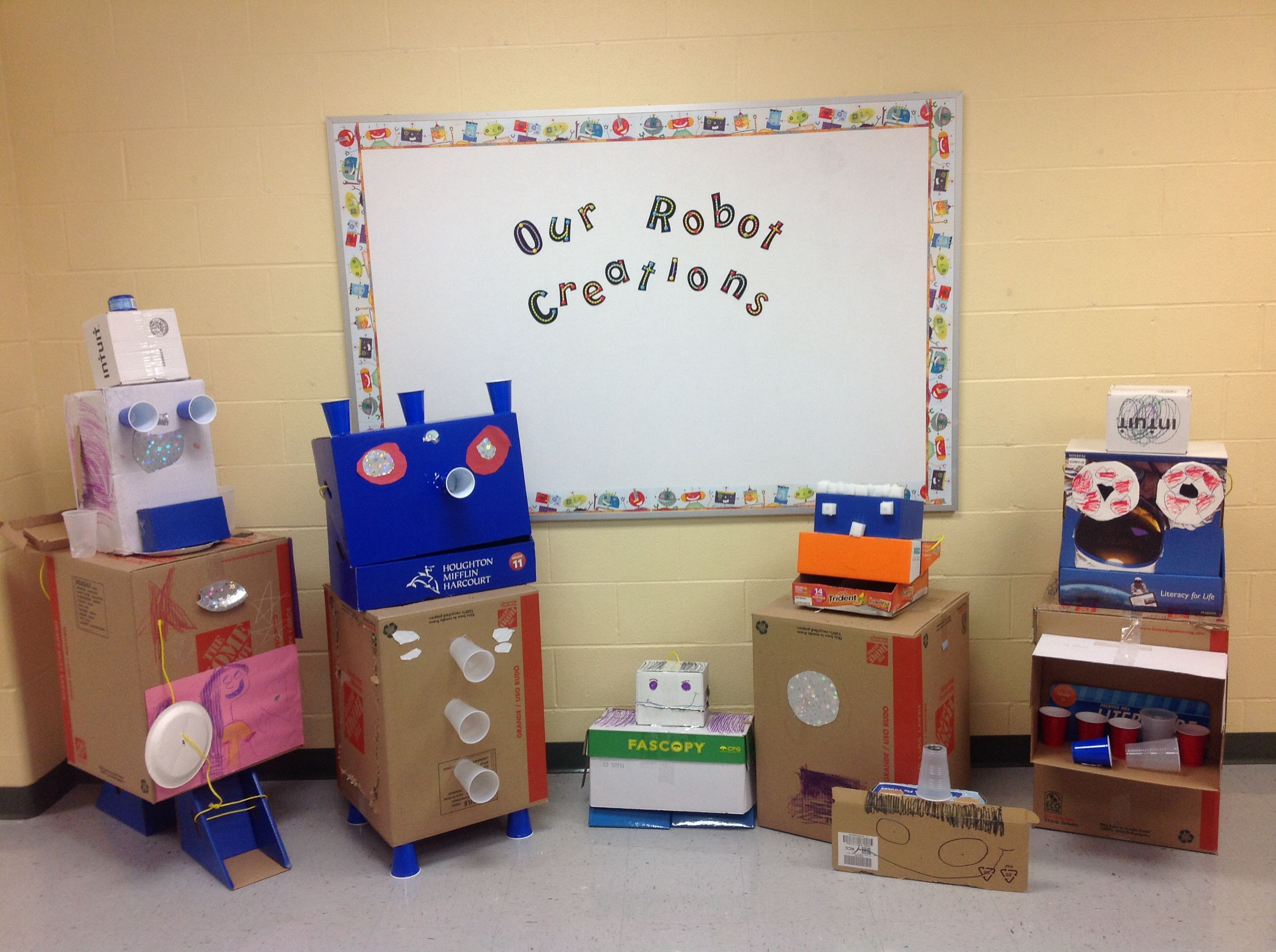 Our Robot Creations After We Read The Story Pearl And