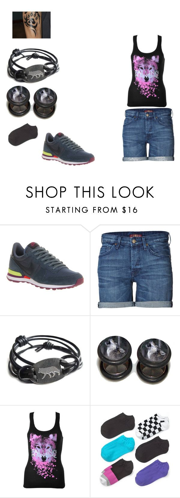 """""""pack 1"""" by musiclover-97 ❤ liked on Polyvore featuring moda, NIKE, 7 For All Mankind i Hue"""