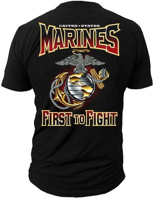 2f7cc345 Men's Marines T-Shirt - US MARINES - FIRST TO FIGHT USMC | SHIRTS ...