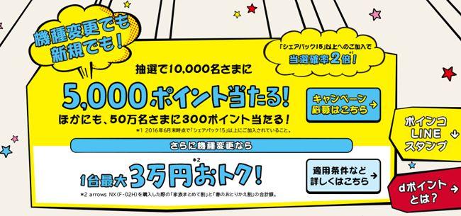 dポイント5000ポイントやぬいぐるみが当たる!ドコモが「春のドコモフェア」開催中! | スマサポ
