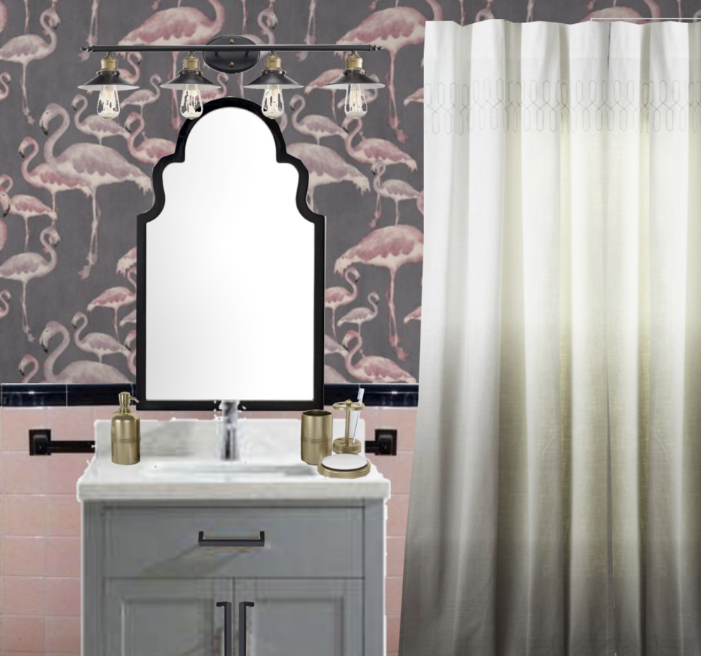 Photo of Vintage Tile Bathroom: Embrace the 1950s Pink with modern updates for a family to enjoy