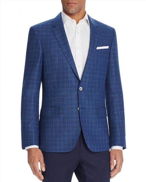 745.00$  Buy now - http://vipey.justgood.pw/vig/item.php?t=2u8aubi7103 - BOSS Hugo Boss Plaid Half Lined Slim Fit Sport Coat 745.00$