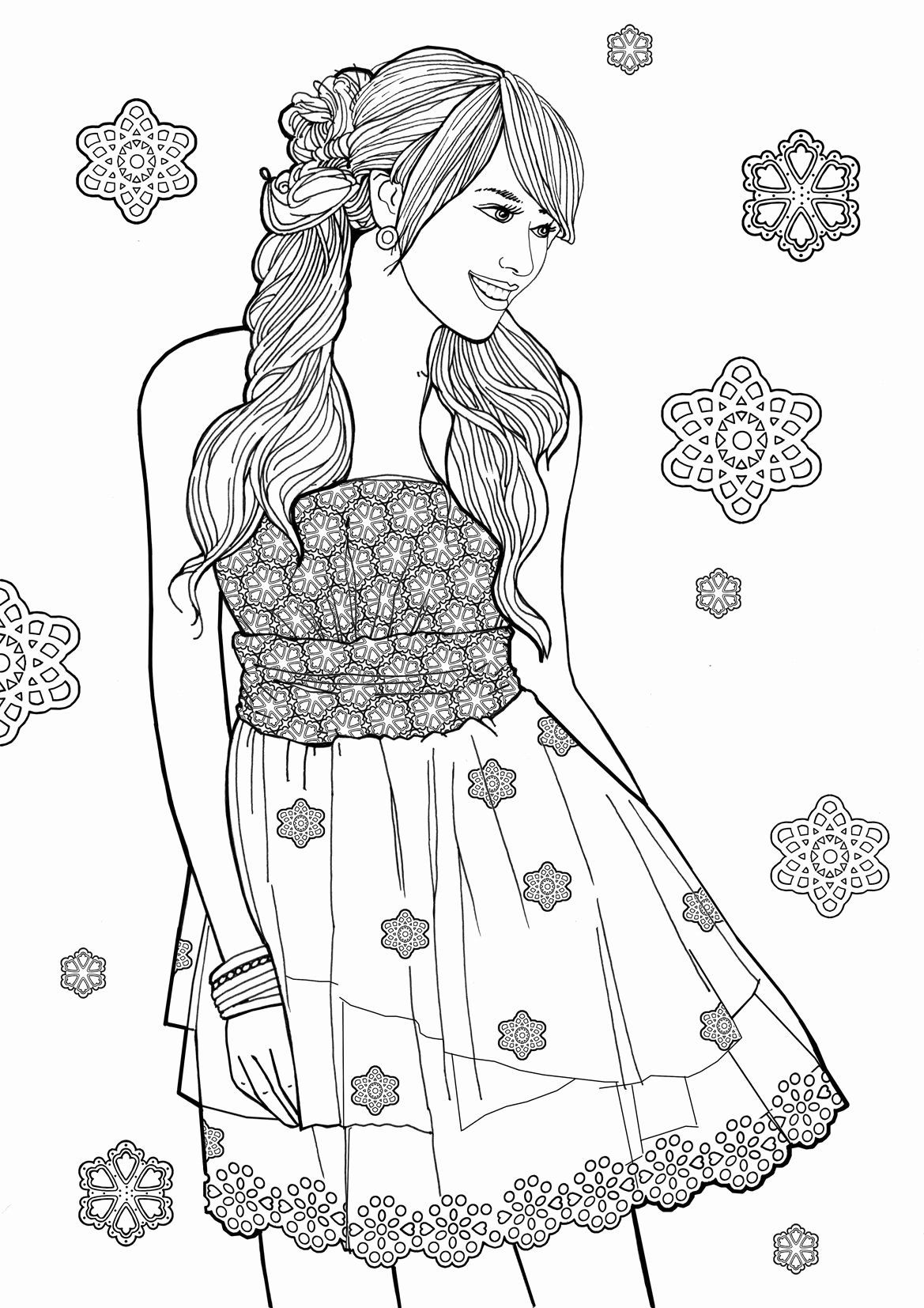 Pin By Melanie Weststrate On Magdalas Fashion Coloring Book Coloring Books Princess Coloring Pages