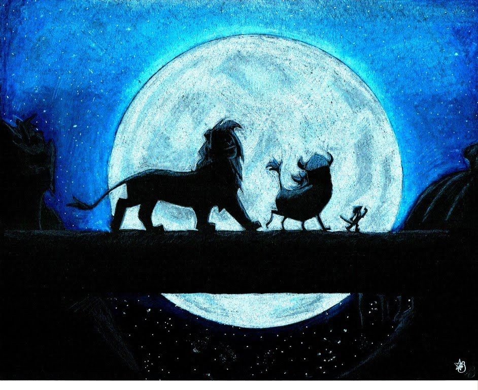 The Lion King Silhouette Speed Drawing Disney Drawings Canvas Drawings Lion King Drawings