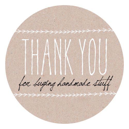 ab060376bea88 Thank You For Buying Handmade Stuff - Etiketten rund | Cute things ...