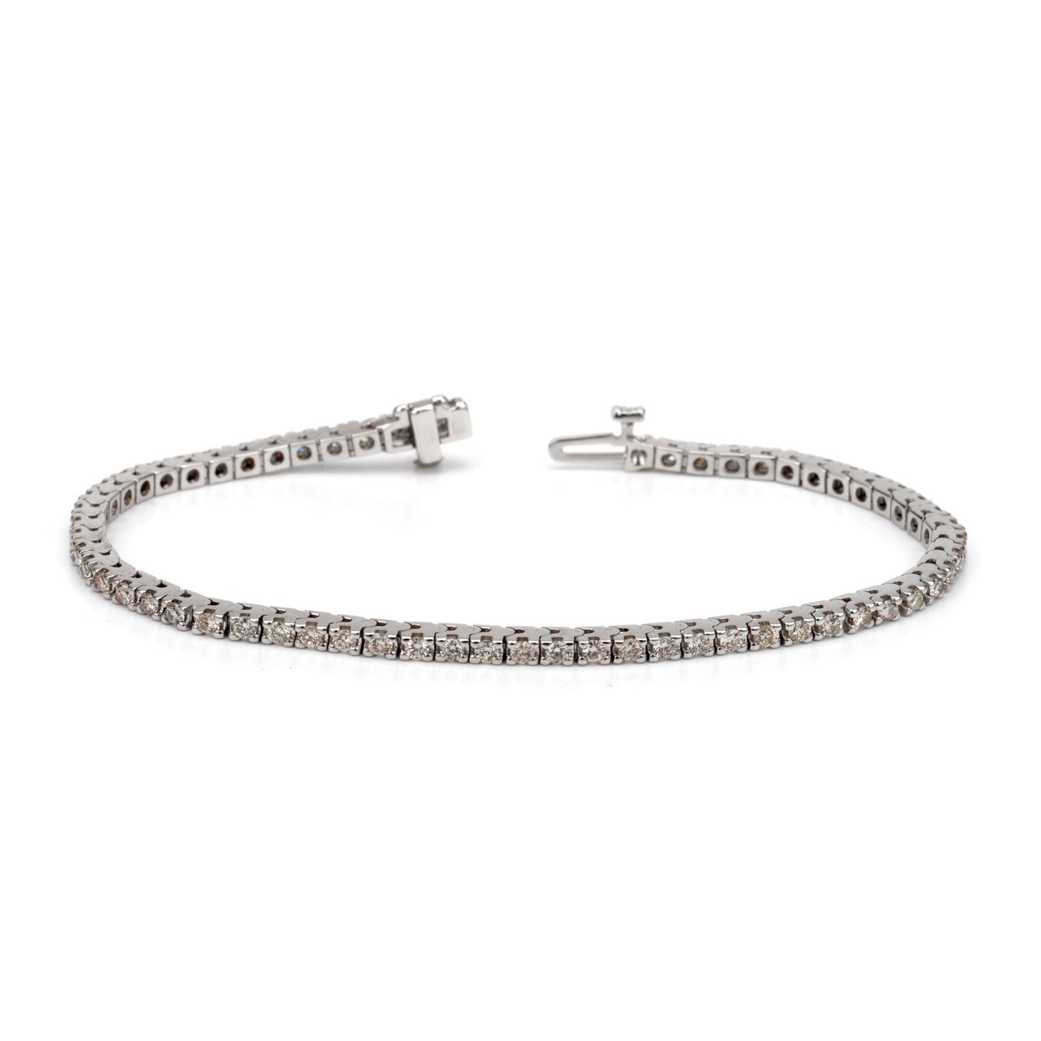 Auriya k white or yellow gold ct tdw diamond tennis bracelet hi
