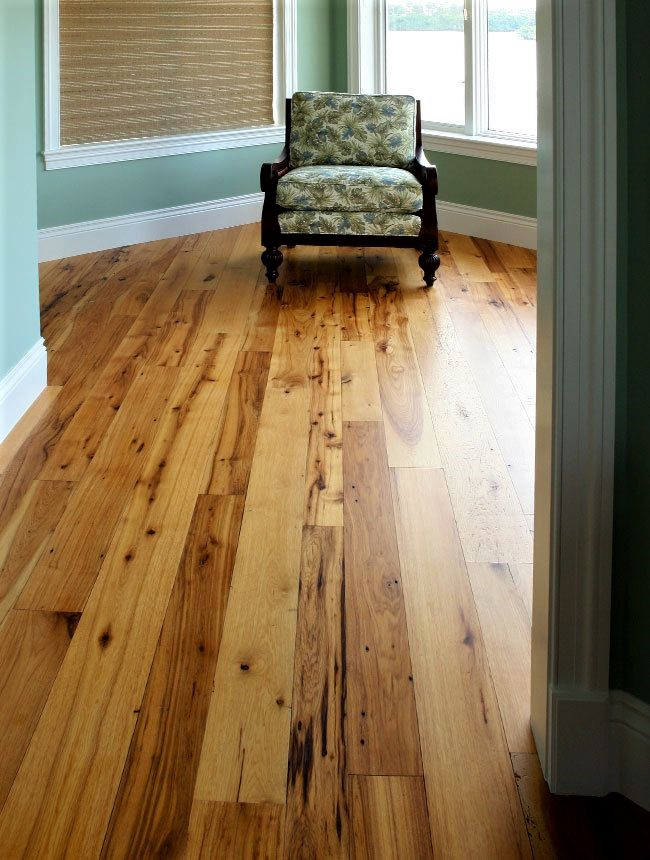 Hickory 2 Common Grade Unfinished Solid Hardwood Flooring
