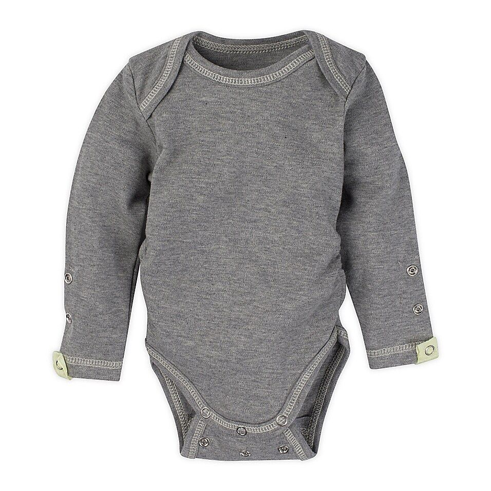 Miraclewear Posheez Size 12M Snap'N Grow Long Sleeve Bodysuit In Grey Dark Grey - This MiracleWear Posheez Snap'n Grow Long Sleeve Bodysuit adjusts with your little angel as she grows. Its super-soft design features rows of snaps and elastic sides for flexible comfort. It offers up to 6 months of use per size for convenience.