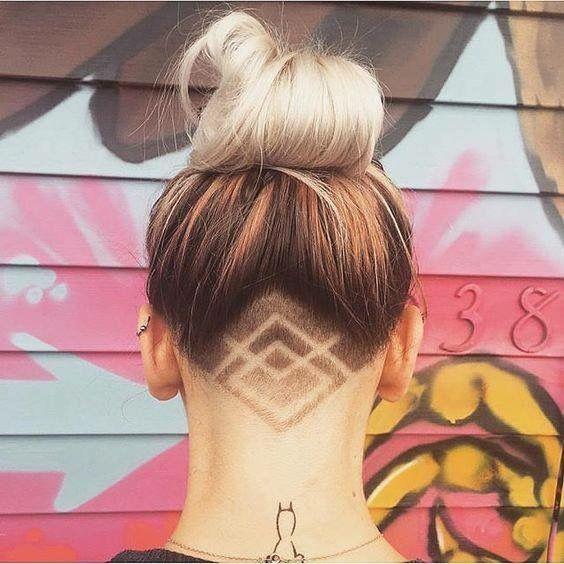 Pin By Andrea Stoop On Undercuts Pinterest Undercut - Undercut hairstyle diy