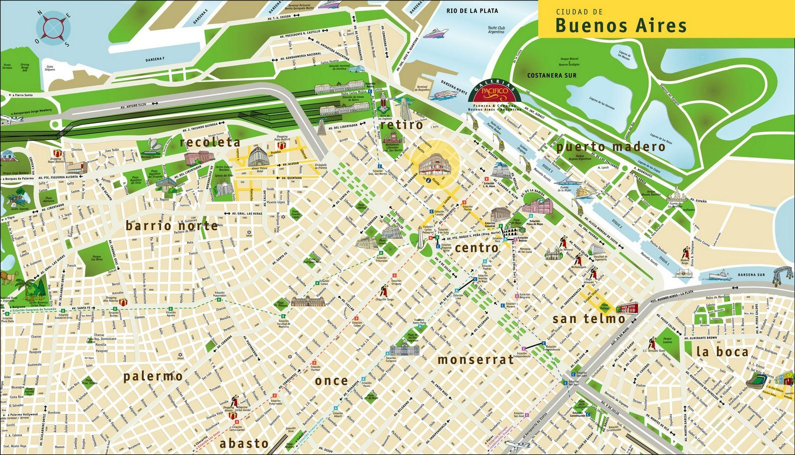 Buenos aires, City maps and ...