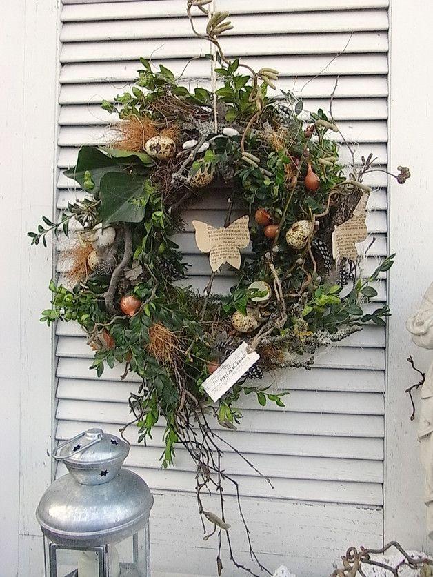 Photo of Door wreaths – door wreath spring nature pure Easter nest table wreath – a designer …