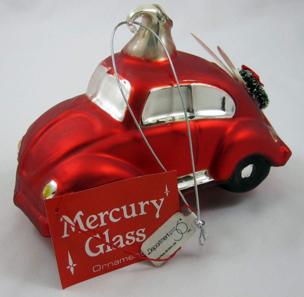 Department 56 Mercury Christmas Ornament Volkswagen Beetle ...