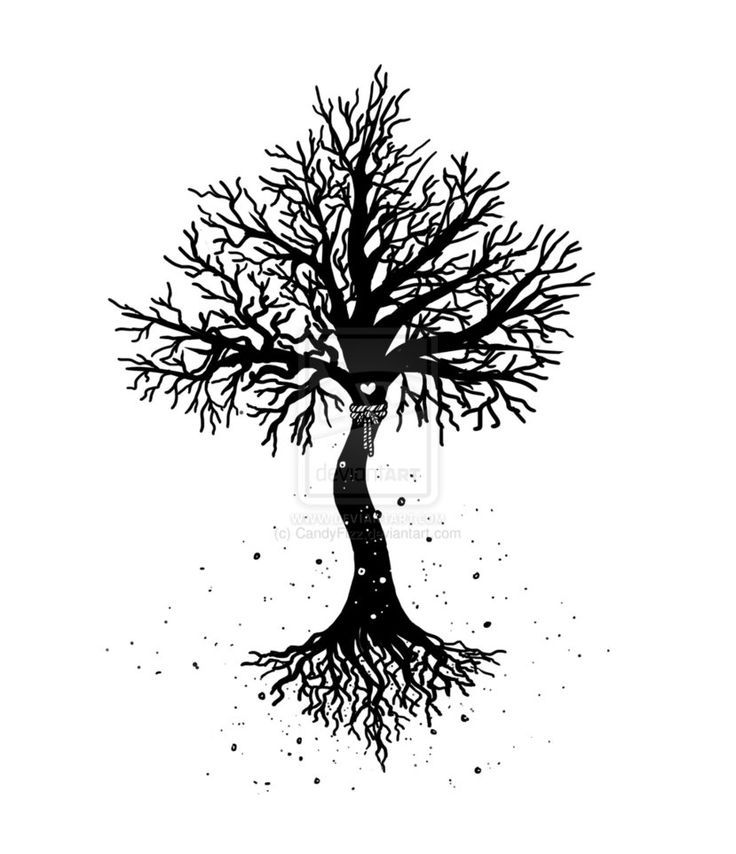 Small Black Tree Of Life Tattoo Design By Lethal Affection