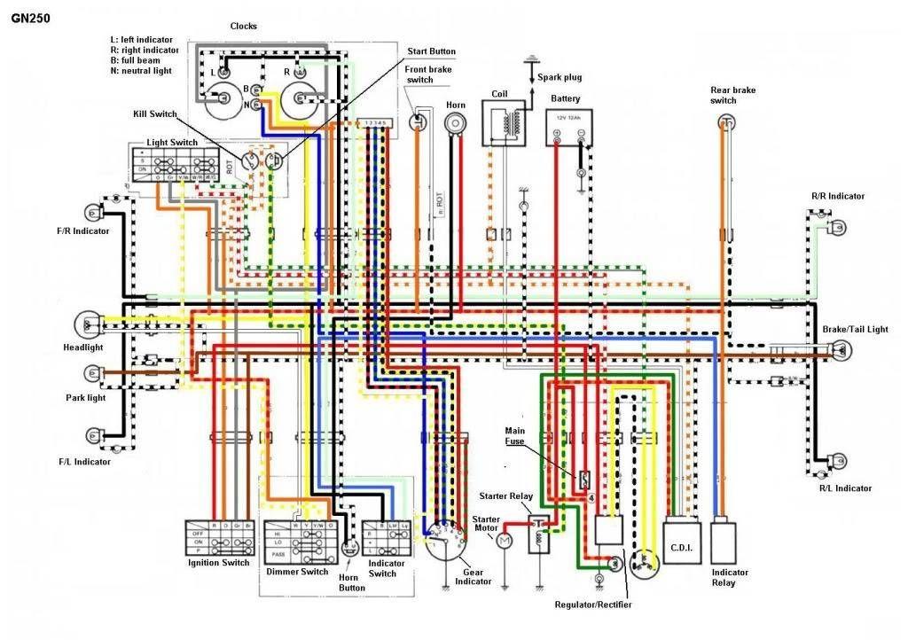 [SCHEMATICS_4US]  Esquema eletrico honda xr 200 #2   Motorcycle wiring, Electrical diagram,  Electrical wiring diagram   Lifan 250 Wiring Diagram      Pinterest