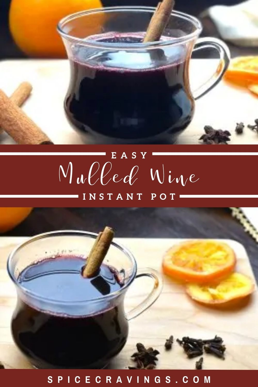 Easy Mulled Wine Recipe In 2020 Mulled Wine Recipe Flavored Drinks Mulled Wine