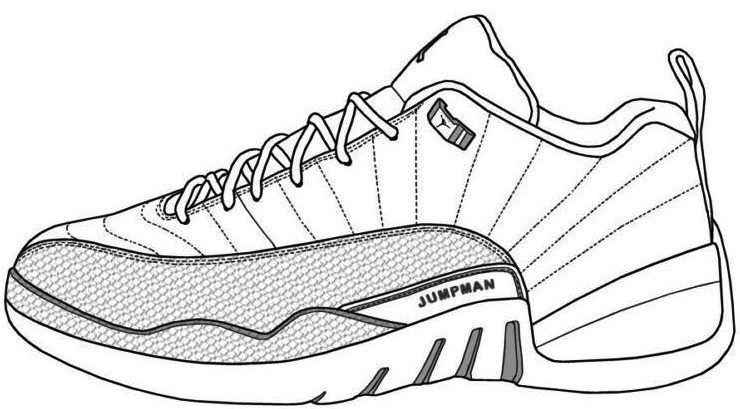 Air Jordan Shoes Coloring Pages To Learn Drawing Outlines Jordan