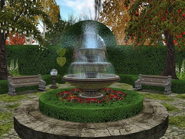 Outdoor Fountain Plans English Garden Ideas