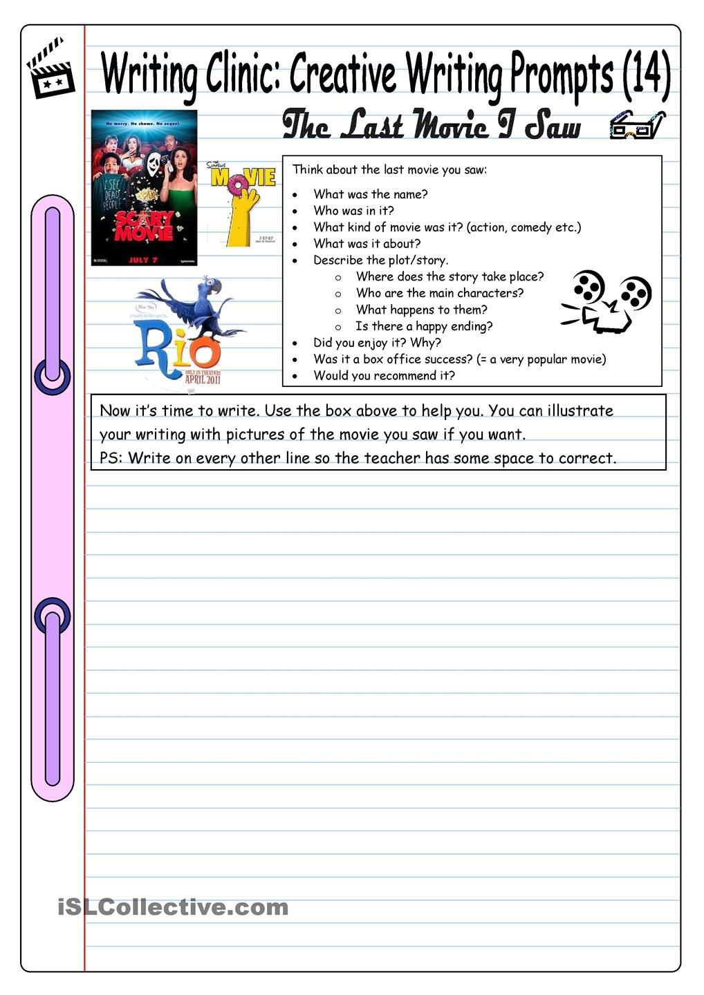 FREE ESL Creative Writing Prompts Pinterest Kid friendly rubric checklist for student writing  perfect for writing  station or creative writing assignments  Laminate and place this chart in  kiddos