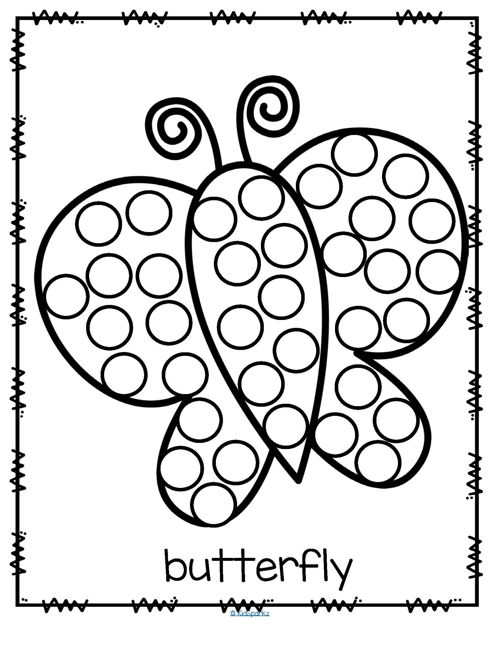 bingo dot coloring pages - photo#8