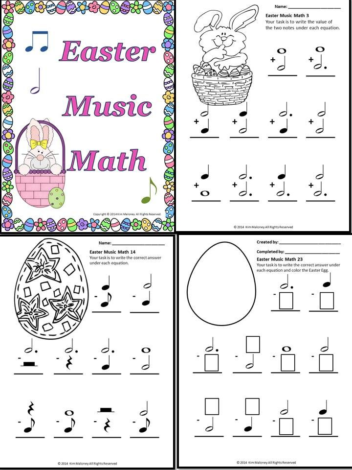 Addition Worksheets easter addition worksheets : Easter Music Activities: Easter Music Math | Math worksheets ...