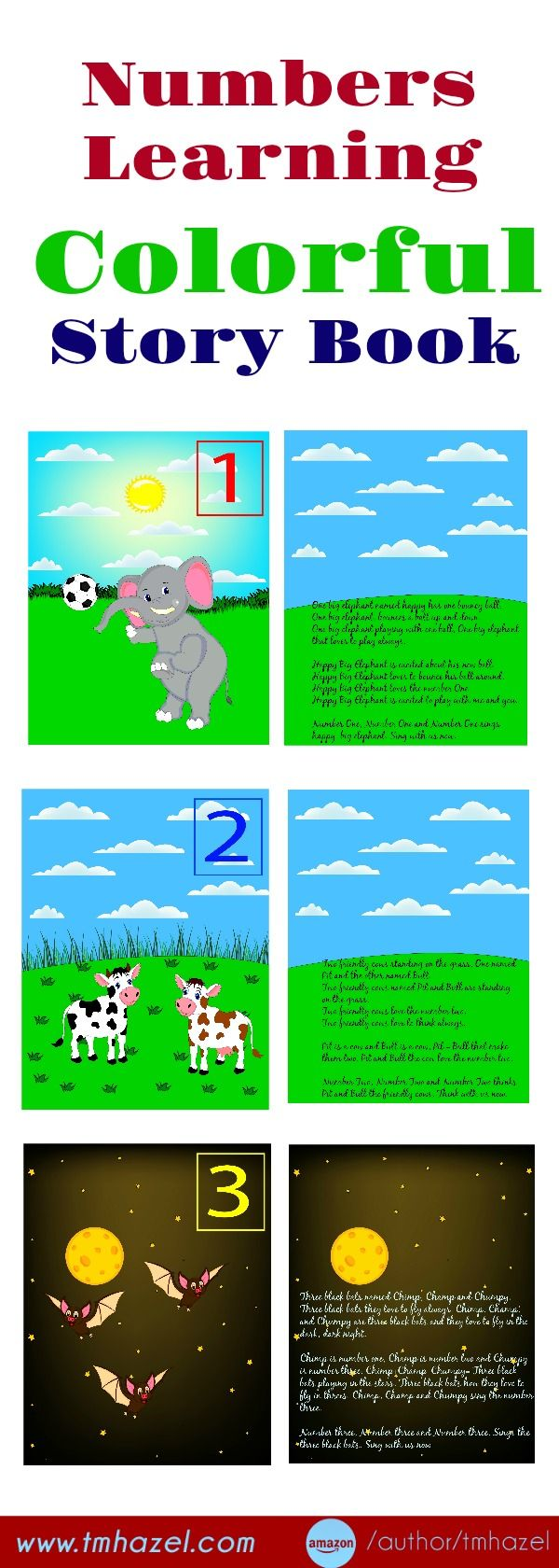 Numbers Learning Colorful Story Book!!! Numbers, preschool ...