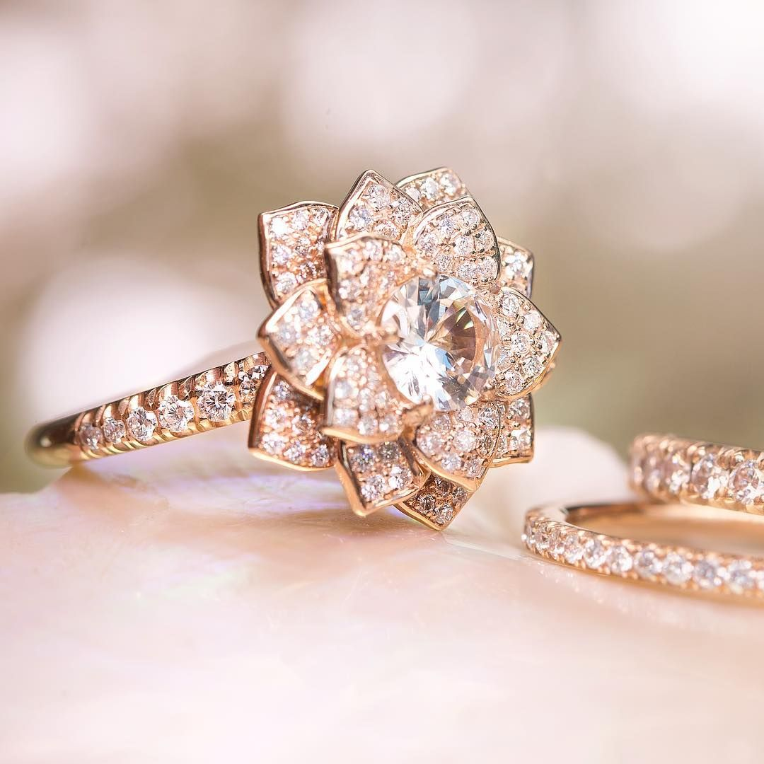 Official Site Floral engagement ring, Engagement rings