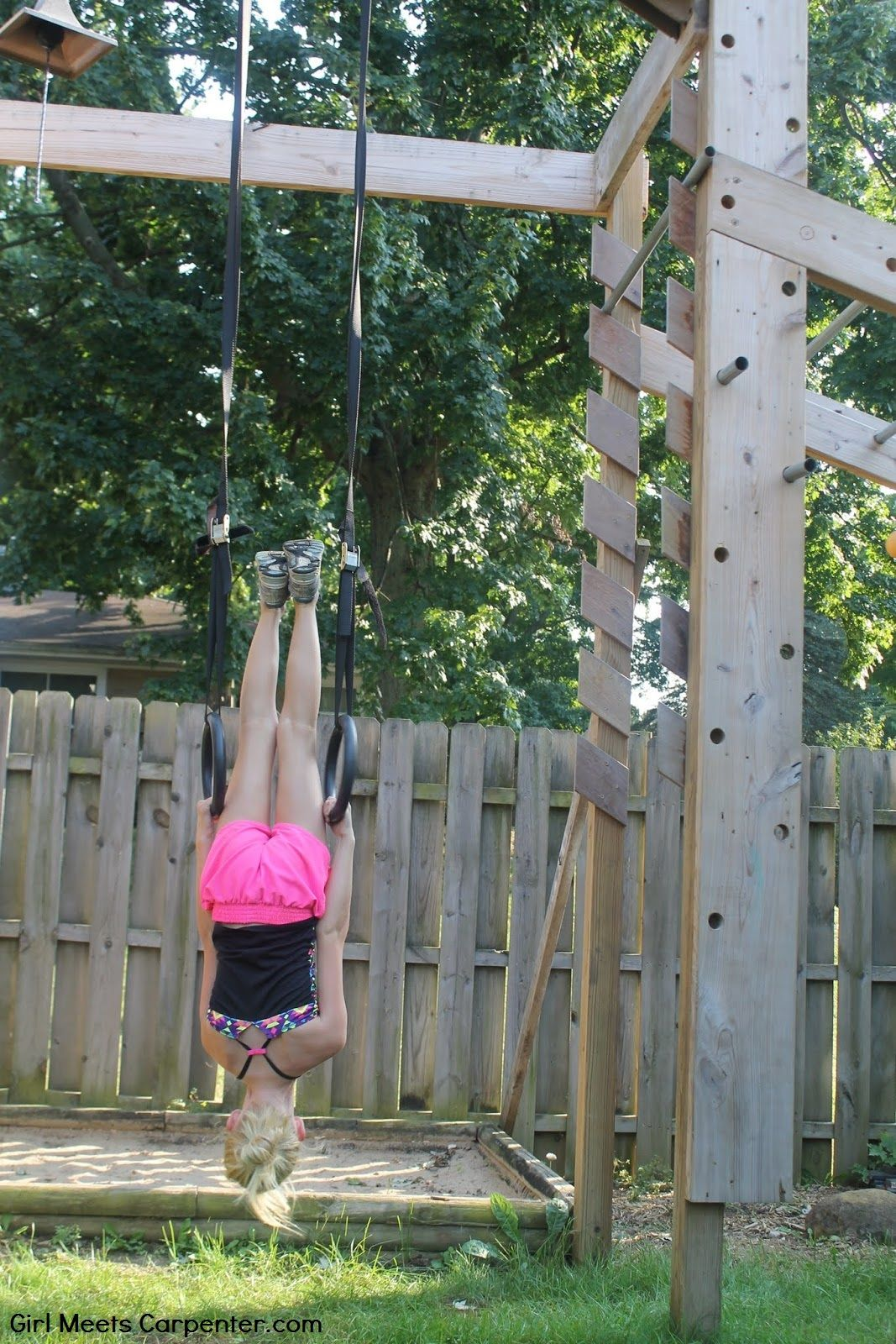 DIY Ninja Obstacle Course With Adjustable Rings, By Girl ...