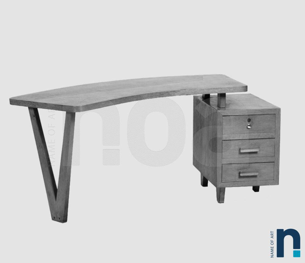 MARCEL FREDOU Bureau Chne Vers 1950 Marcel Bureaus and Tables