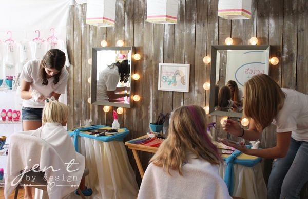 Salon Birthday Party Part 2 The Fun Stations Kids Party Ideas