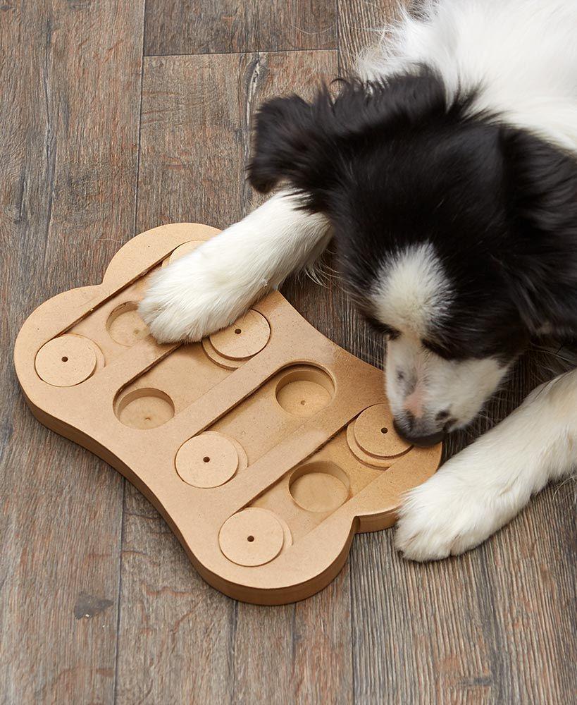 Info's : Shuffle Bone Interactive Dog Toy