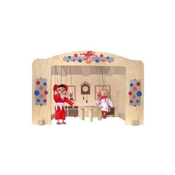 Drevené bábkové divadlo