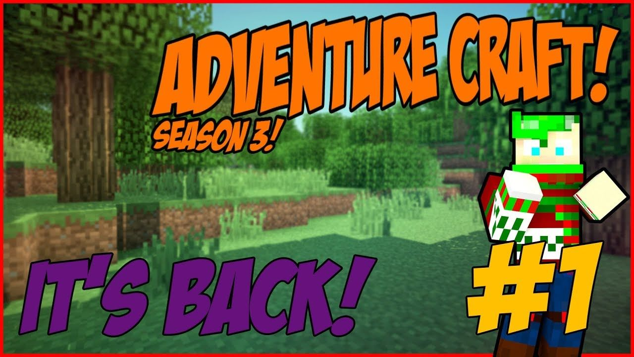 Minecraft Bedrock Adventure Craft Season 3 IT'S BACK