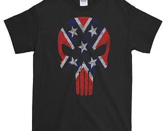 Confederate Punisher Unisex T Shirt T Shirt Mens Tshirts Mens Tops