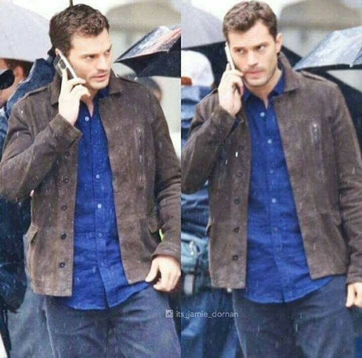 Jamie Dornan fifty shades darker set pictures in Vancouver March 7