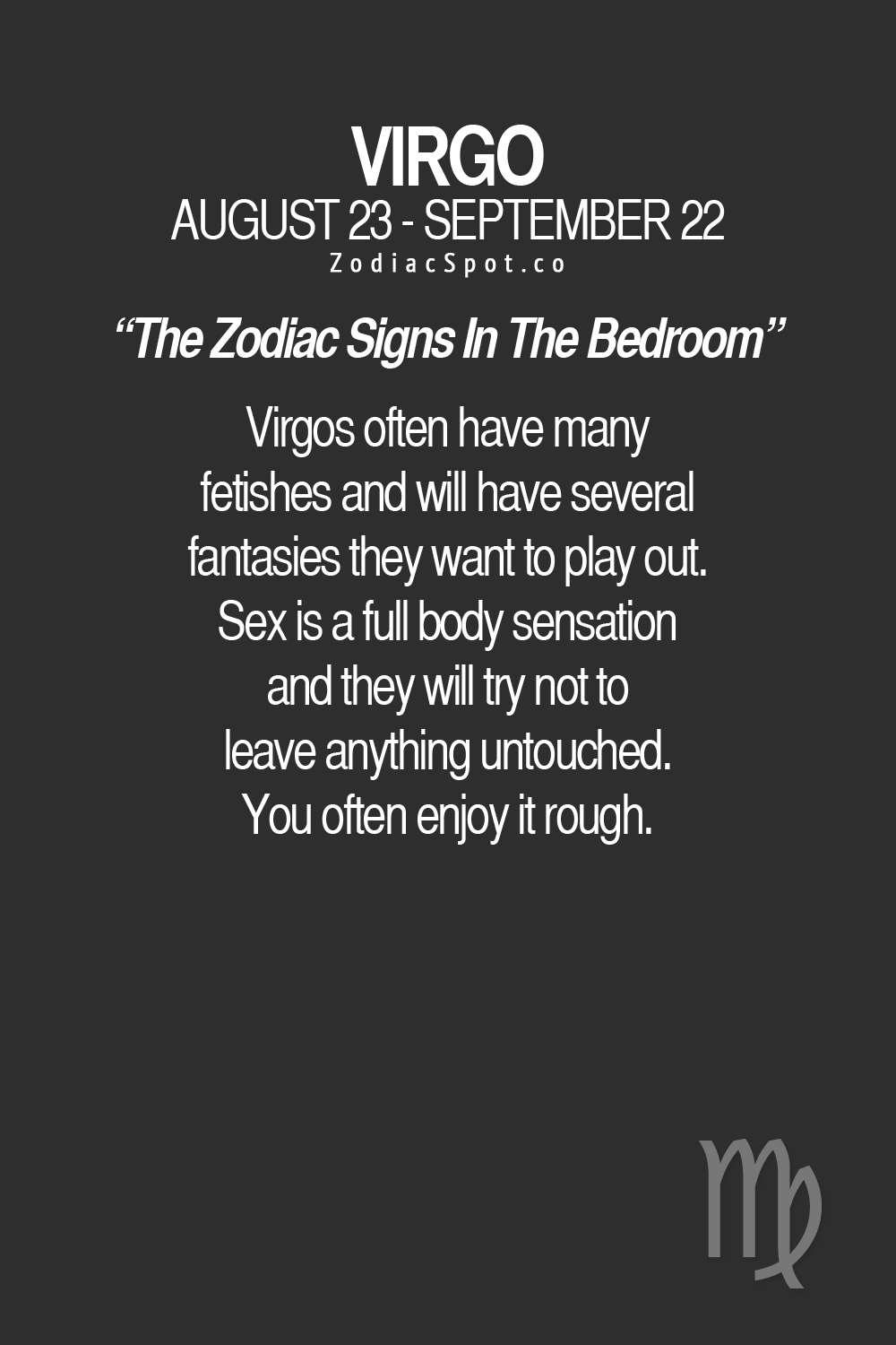 Astrology virgo sex what do they like