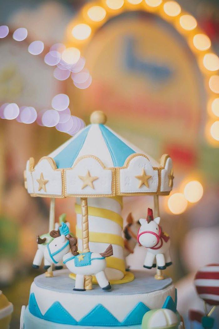 Take A Carousel Ride With This First Birthday Party Theme