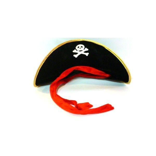 52212890a9596 Gorro Pirata de tela en color negro
