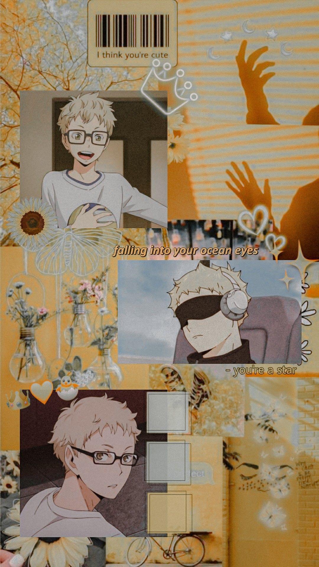 Tsukishima Kei Aesthetic Wallpaper Haikyuu Anime Haikyuu Wallpaper Cute Anime Wallpaper Aesthetic cute haikyuu wallpapers