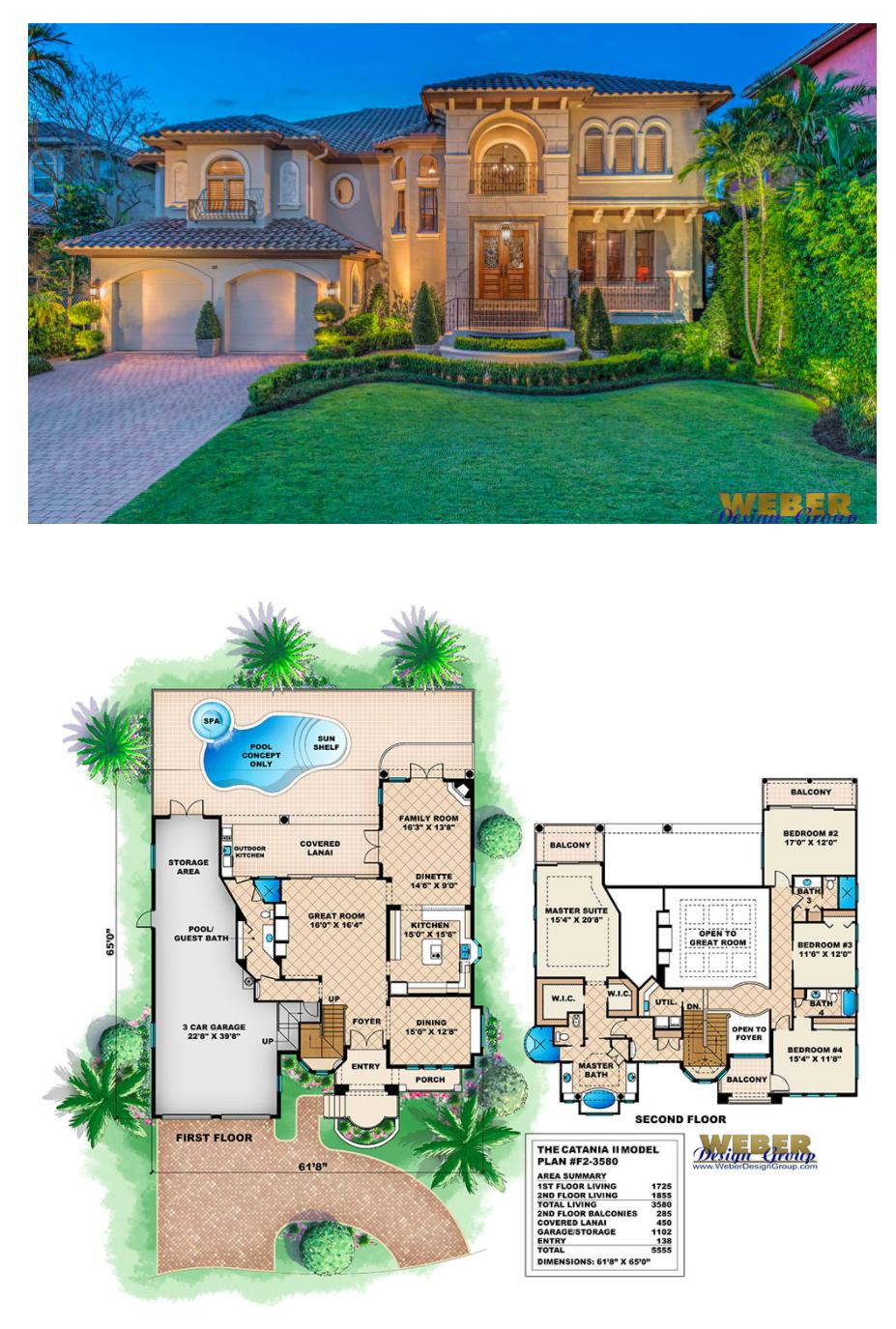Catania II Home Plan | Beach house plans, Beach house plan ...
